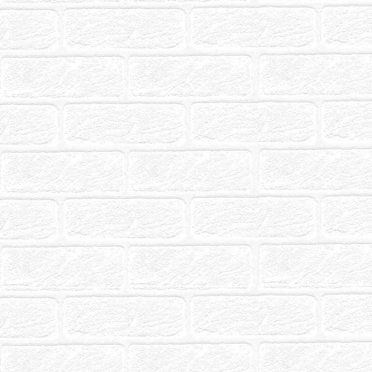 56 sq ft Brick Paintable White Wallpaper 93744 at The Home Depot 736x736