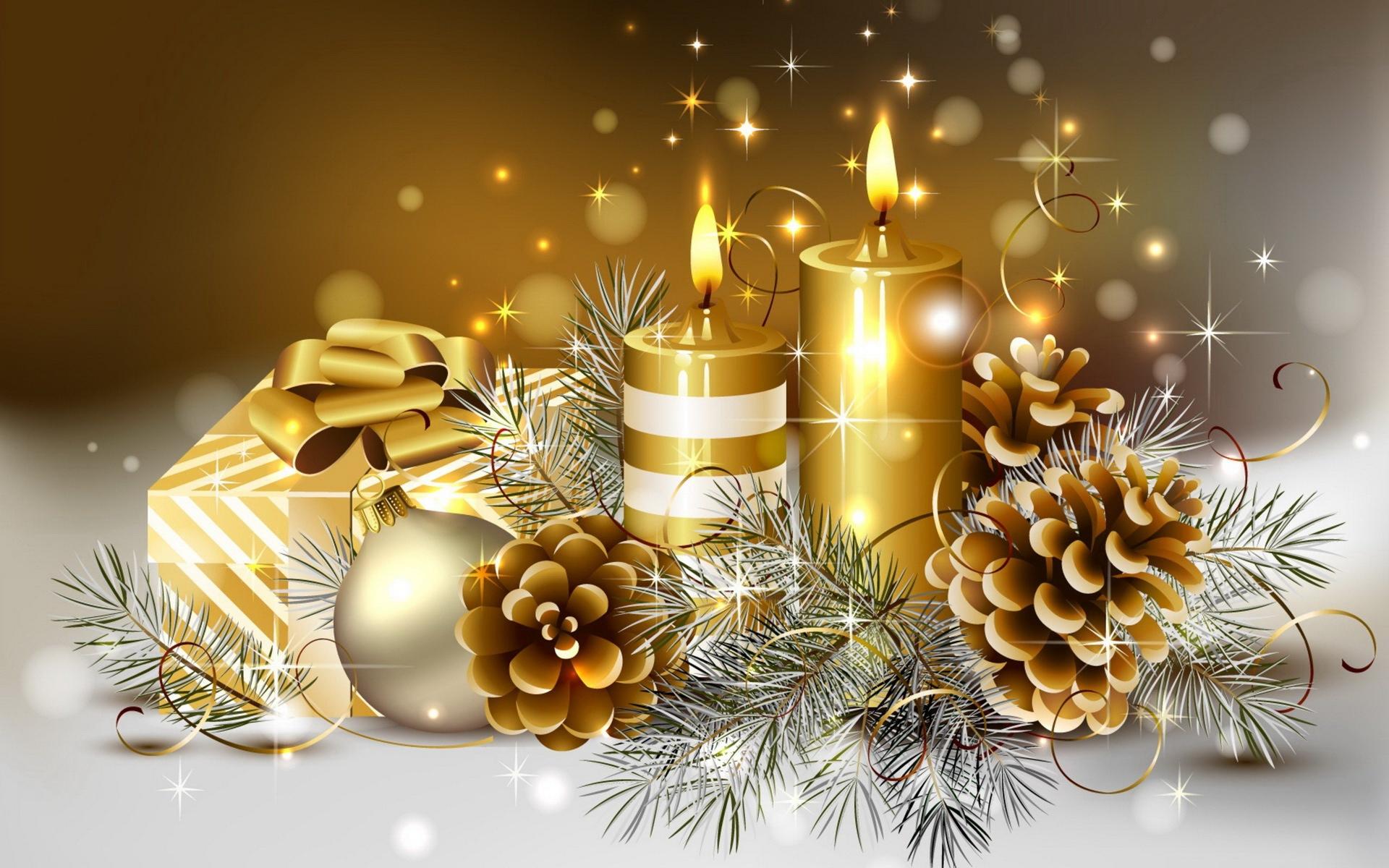 page daccueil ftes Fonds dcran HD bougies de Nol fonds d 1920x1200