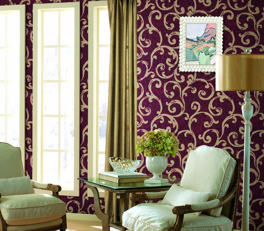 purple wallpaper living room purple room wallpaper wallpapersafari 15096