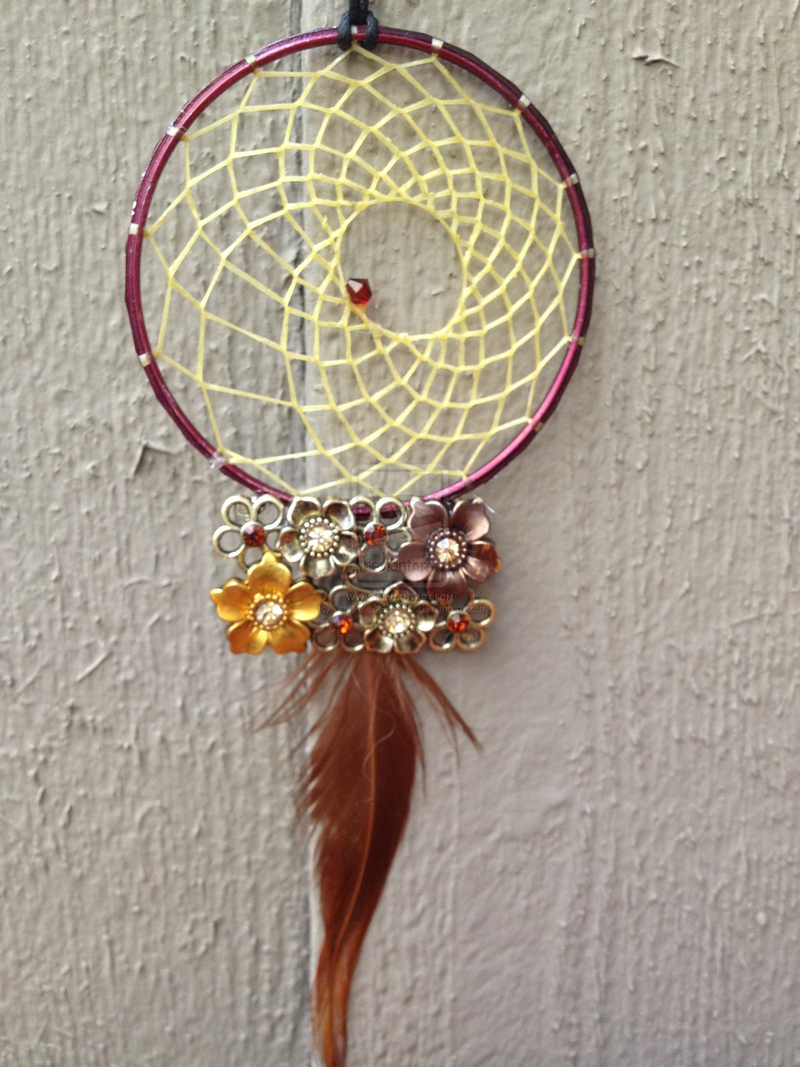 maroon flower dream catcher by craft me a dream d5lmtvcjpg 1600x2133