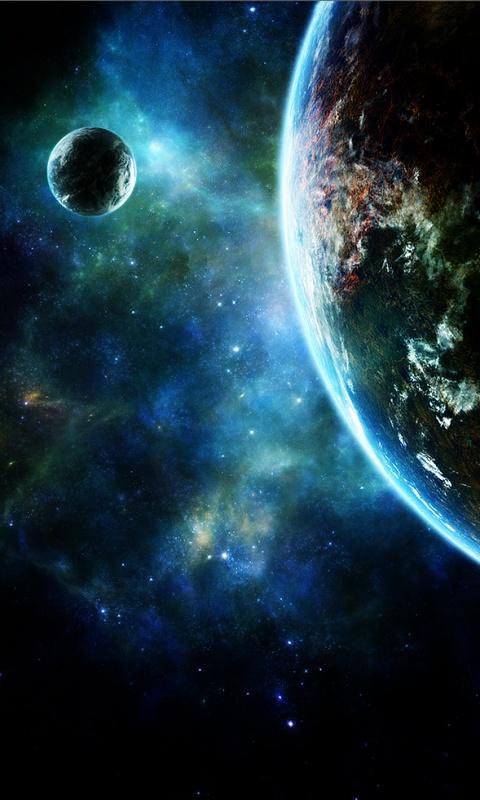 Hd space phone wallpaper wallpapersafari for Sfondi spazio full hd