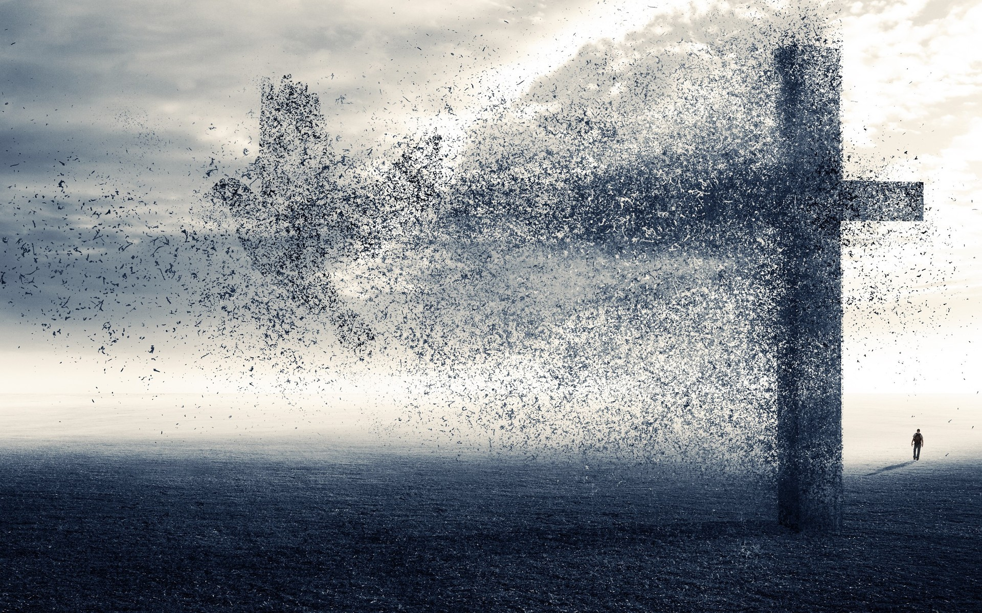 Dark Cross Wallpaper Widescreen 1920x1200