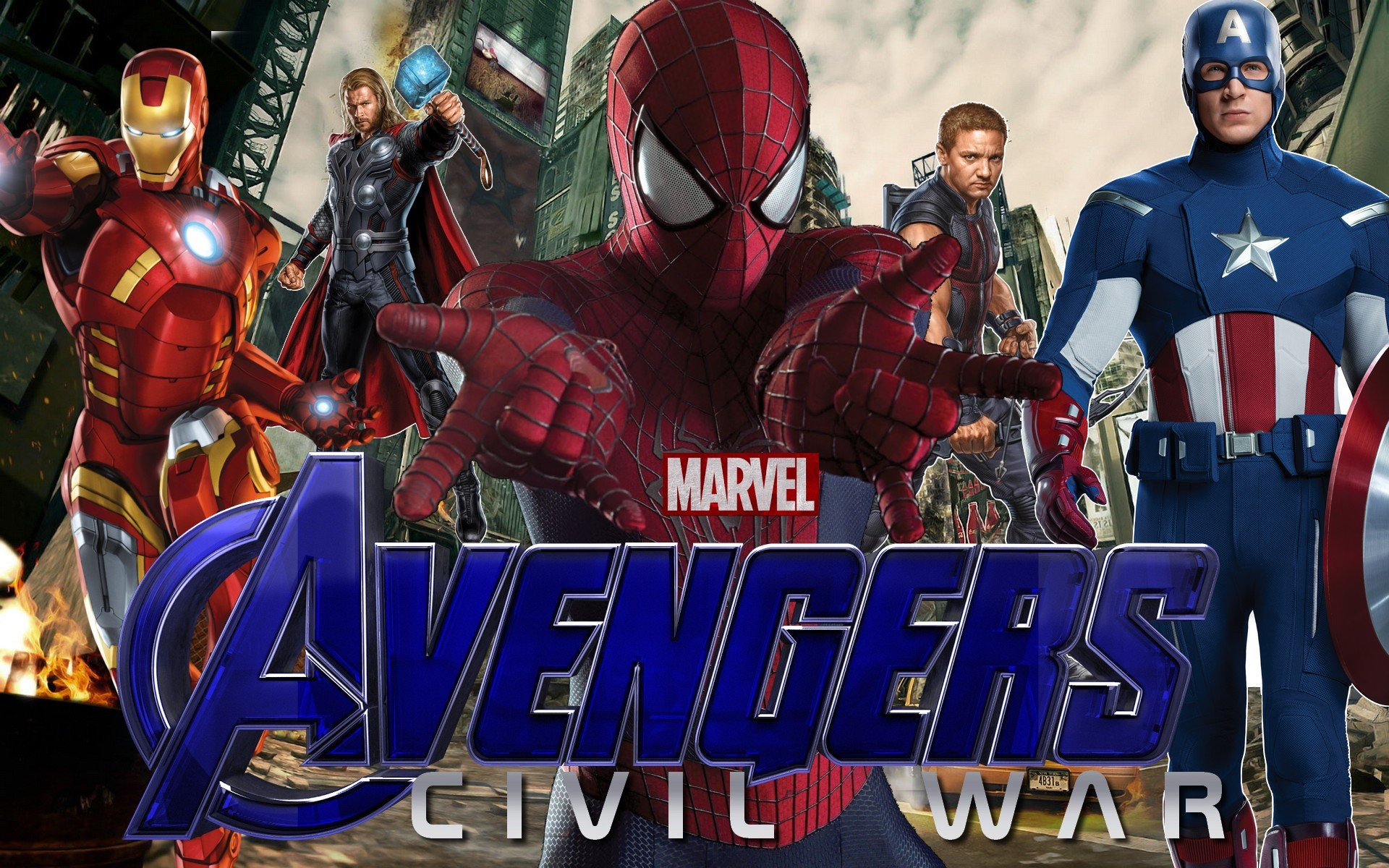 Marvels Avengers Civil War   Poster FAN MADE by Zedkate on 1920x1200