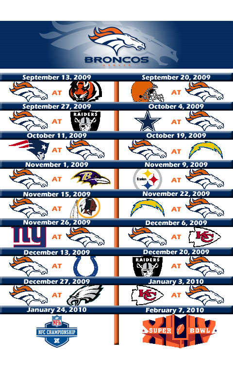 picture relating to Denver Broncos Printable Schedule called 50+] Denver Broncos 2016 Agenda Wallpaper upon WallpaperSafari