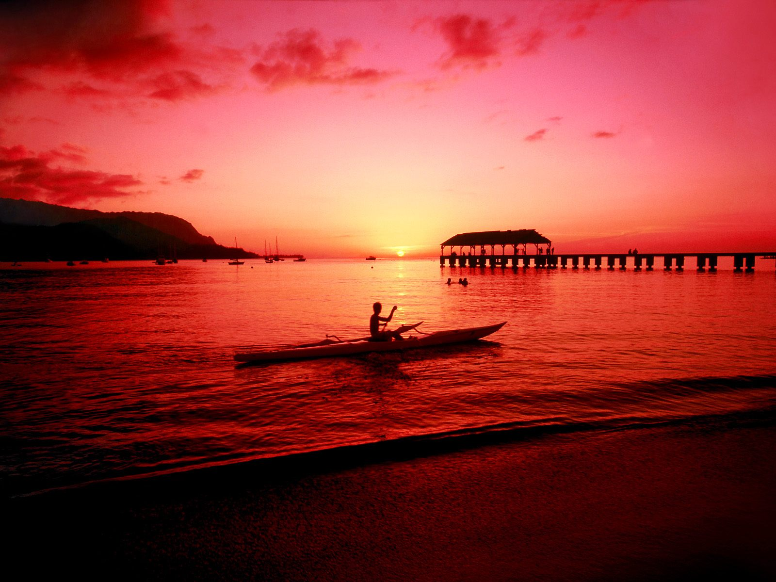 hawaii beach sunset | free stockphoto
