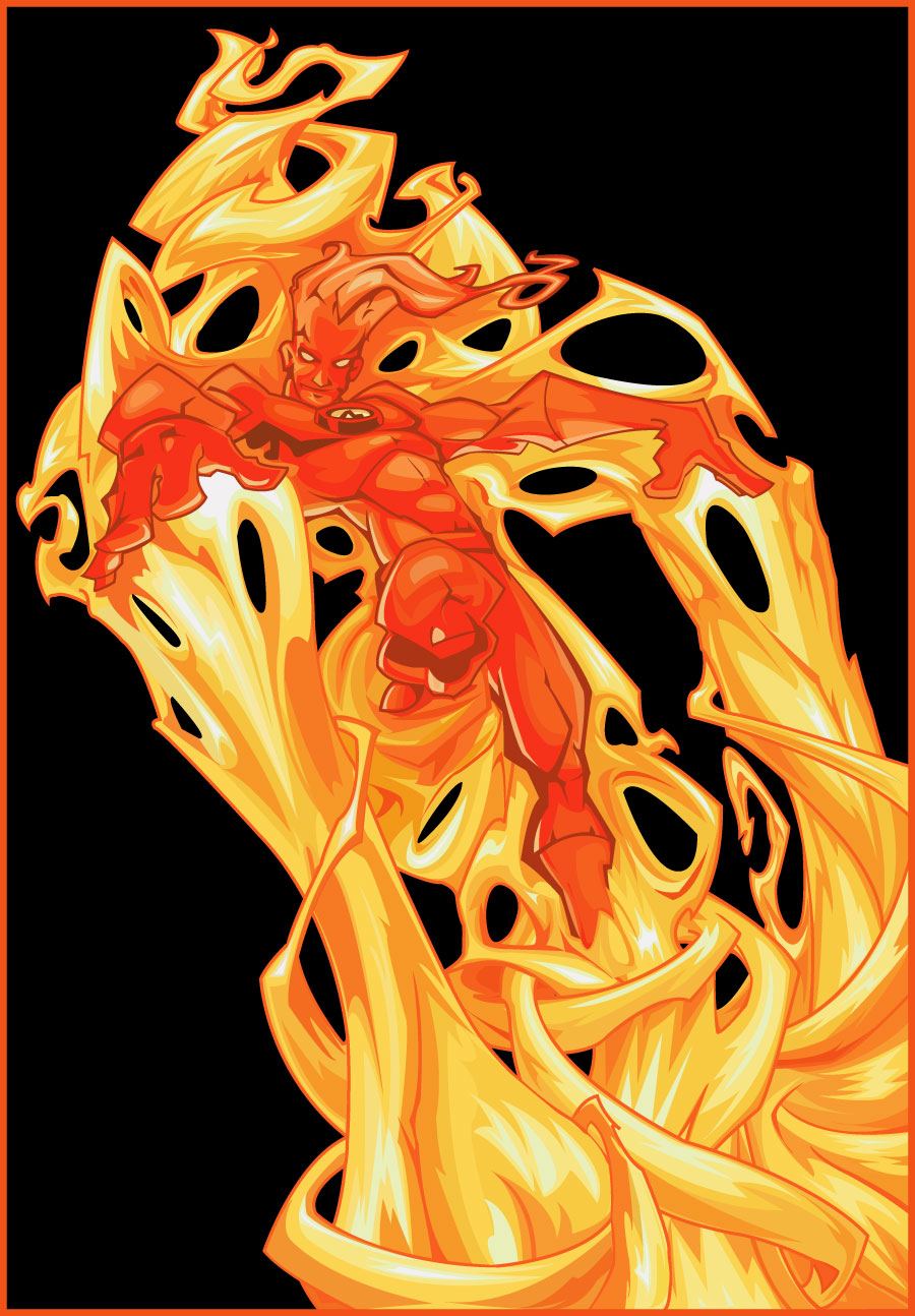 Human Torch Wallpaper Human torch by nichollica 900x1294