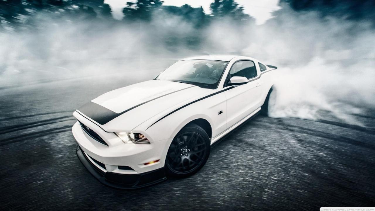 48 Mustang Burnout Wallpaper On Wallpapersafari