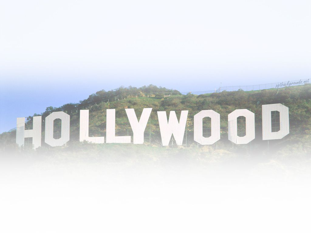 Hollywood famous Backgrounds powerpoint backgrounds Background 1024x768