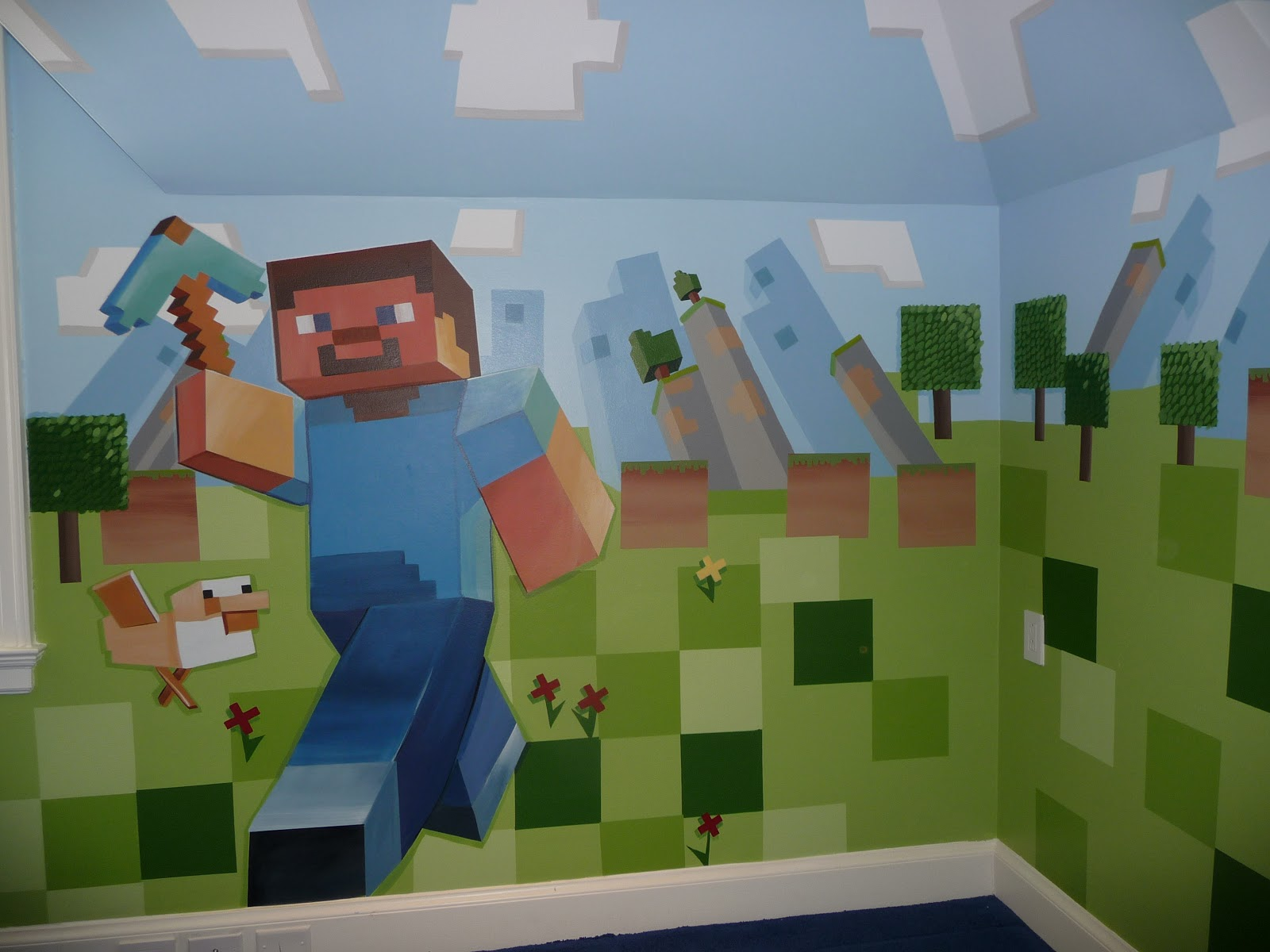 in love with Minecraft Steve and his trusty Duck 1600x1200