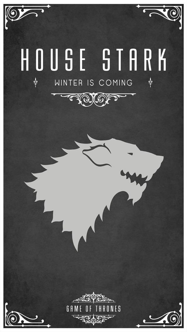 Game Of Thrones Wallpaper Stark Game of thrones house stark 640x1136