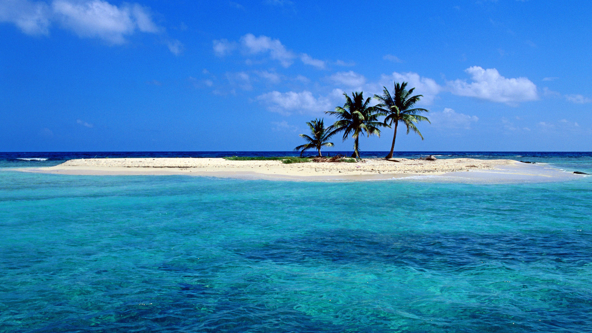 Lighthouse Reef Atoll Belize Tropical Island 1920x1080