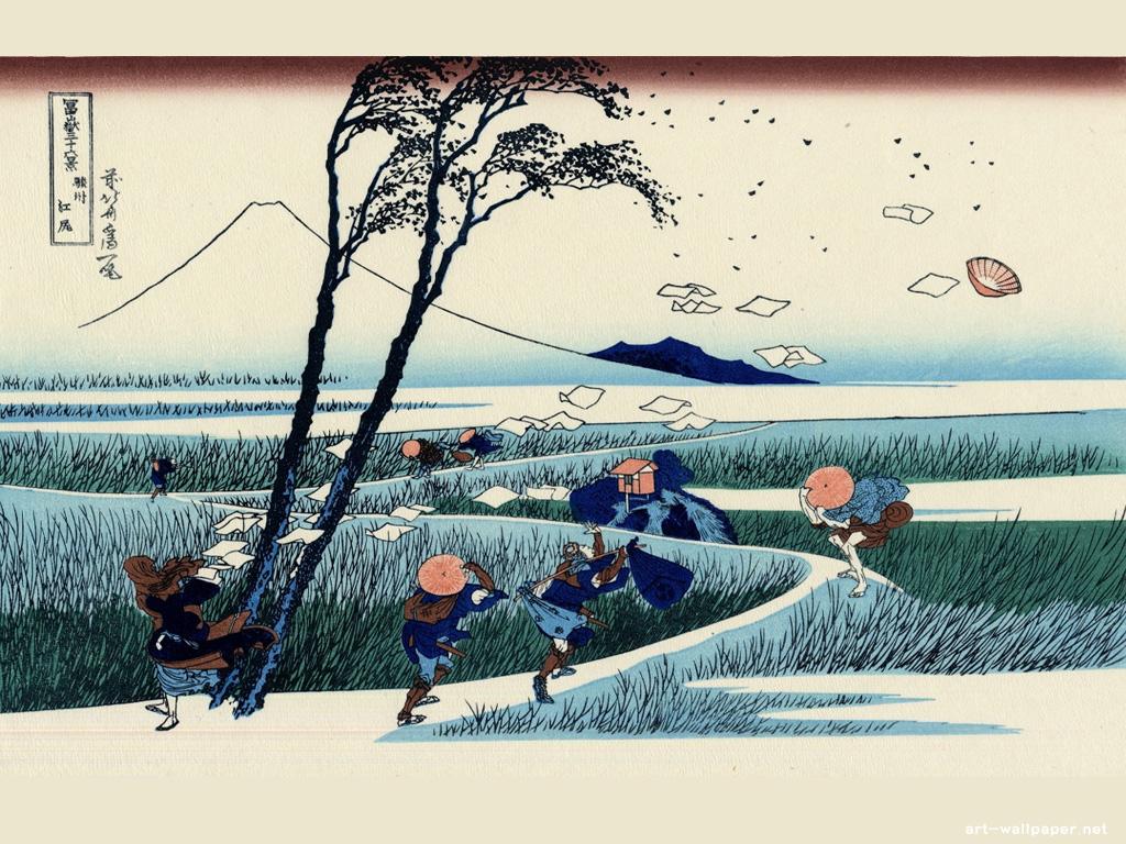 Hokusai Katsushika Wallpaper Painting Wallpaper 1024x768