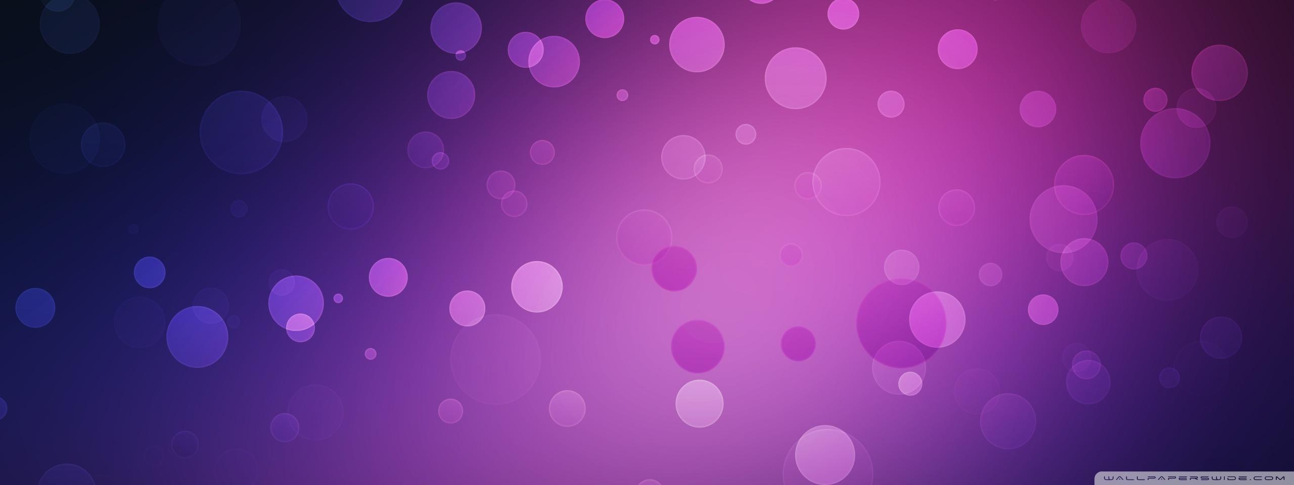 Purple Circles 4K HD Desktop Wallpaper for 4K Ultra HD TV 2560x960