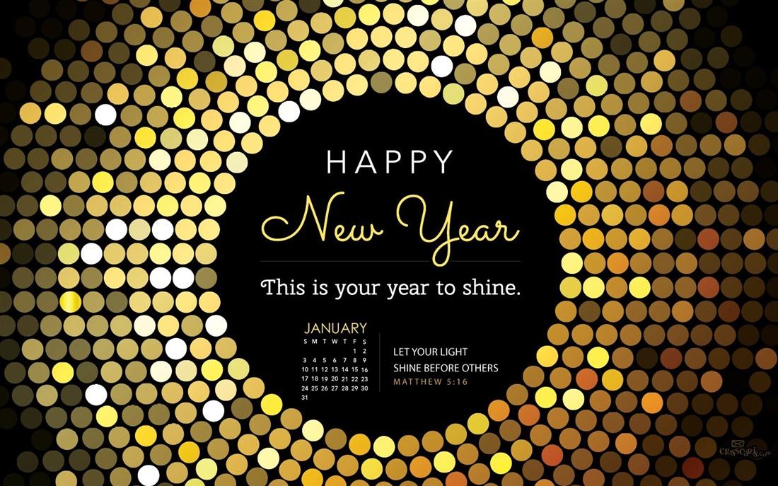 January 2016   Year to Shine Desktop Calendar  January Wallpaper 1100x687