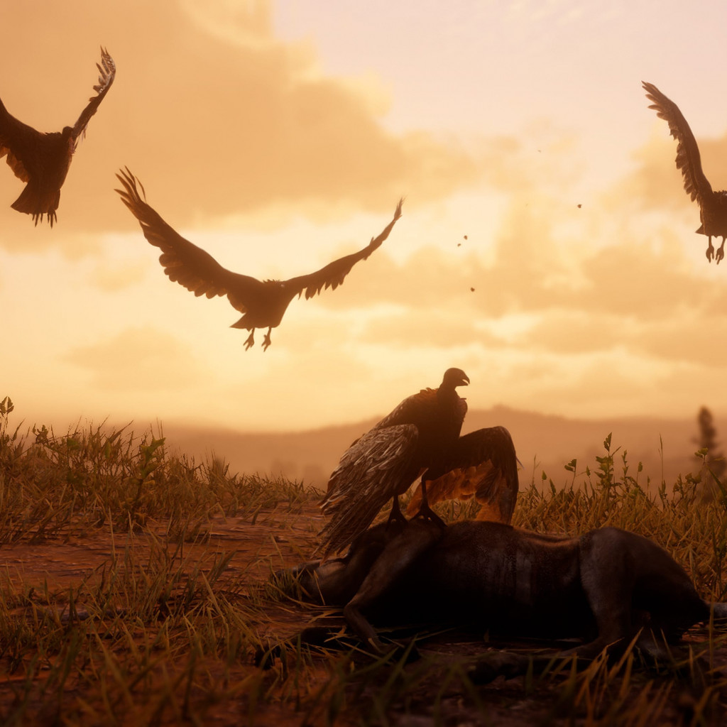 Download wallpaper Red Dead Redemption 2 1024x1024 1024x1024