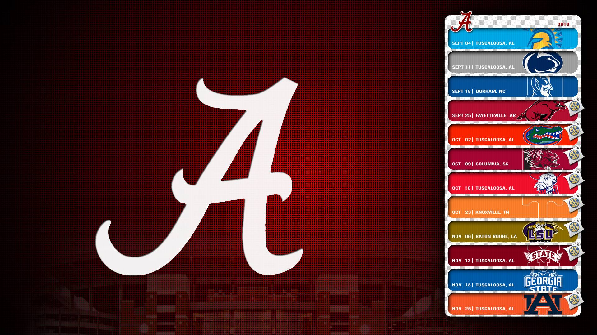 Alabama Crimson Tide Logo Wallpapers 1920x1080