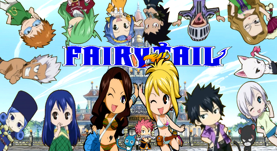 Fairy Tail Guild Members Chibi by MrsLawnjiDRace on deviantART 900x493
