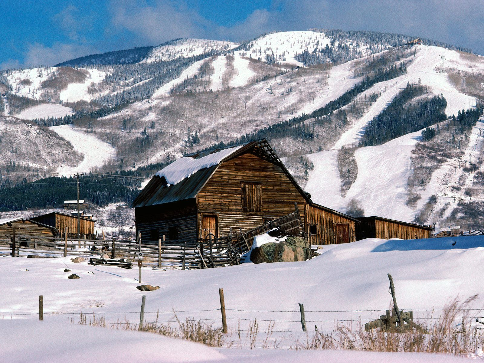 Winter Ranch picture Winter Ranch photo Winter Ranch wallpaper 1600x1200