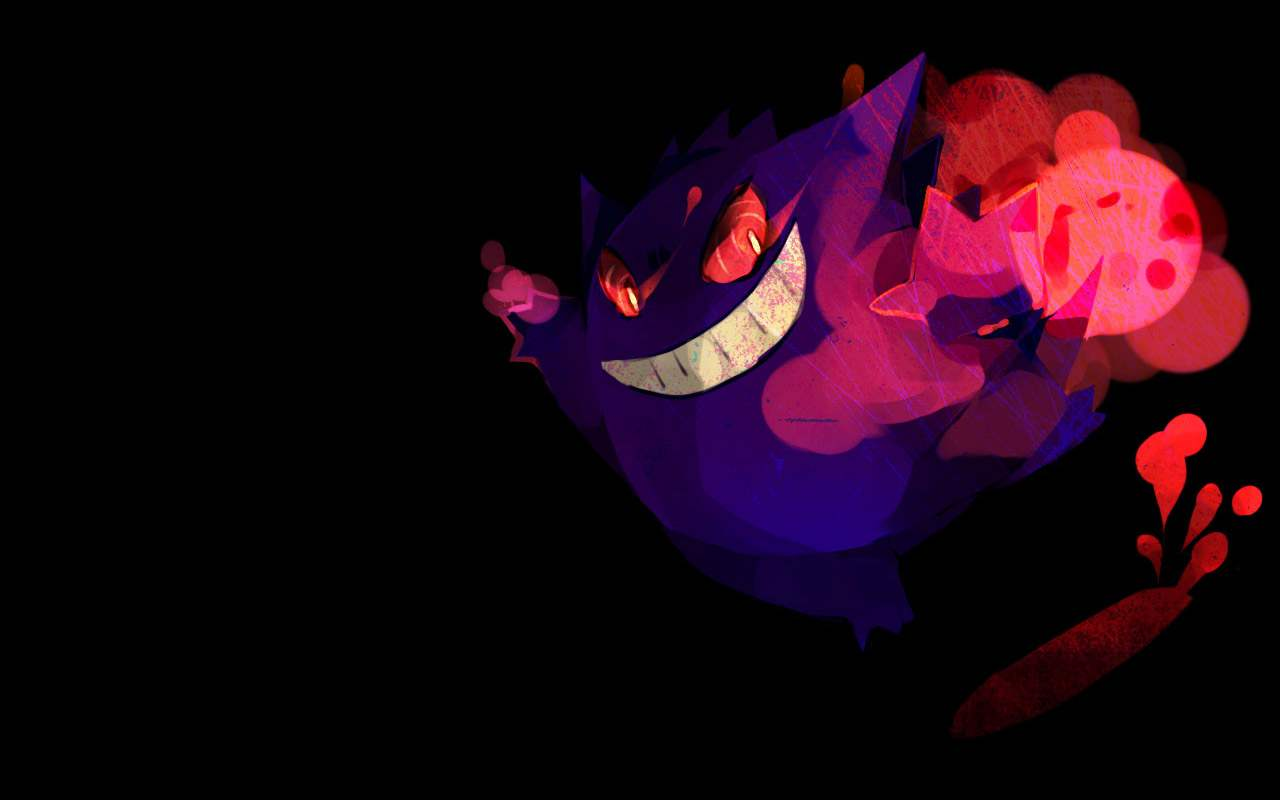 Download the Pokemon anime wallpaper titled Gengar Wallpaper 1280x800