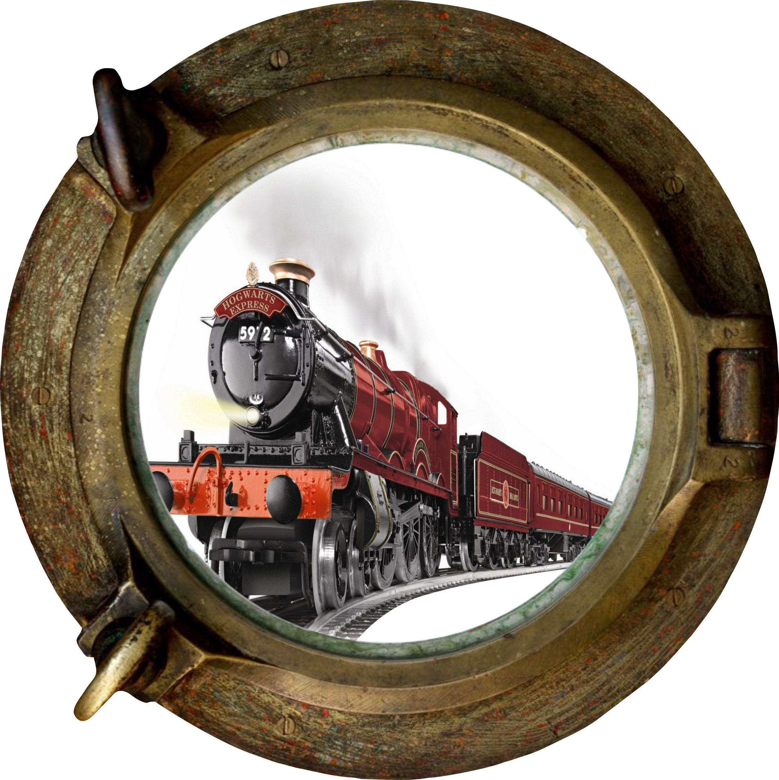 Porthole Hogwarts Express View Wall Stickers Mural Art Decal Wallpaper 2500x2505