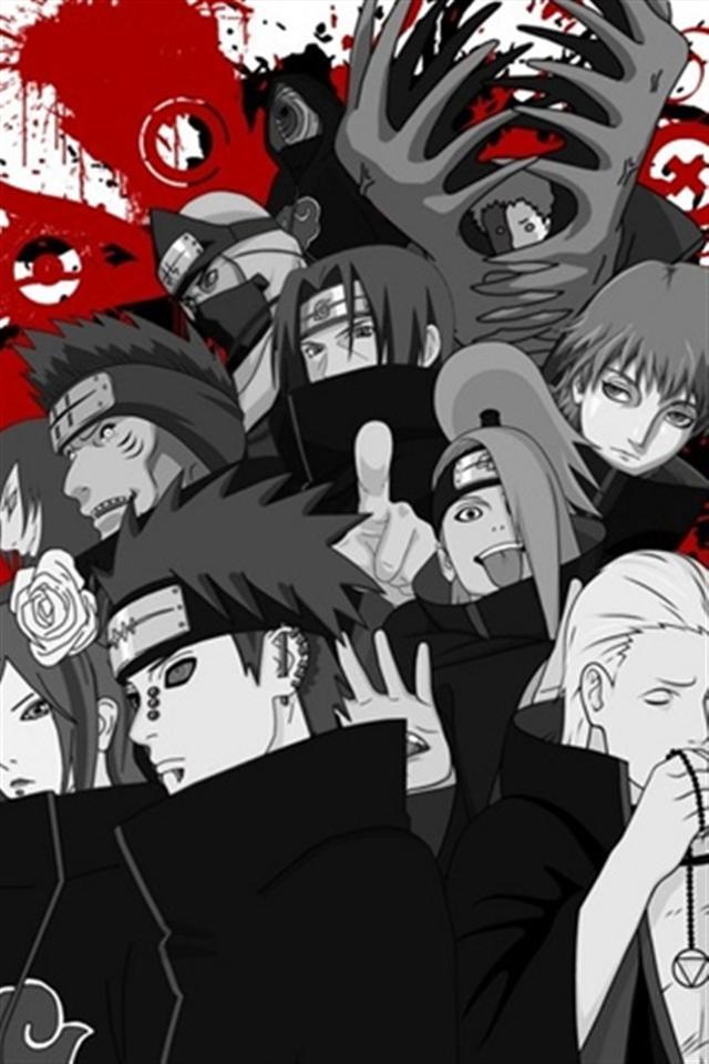 Naruto Akatsuki HD iPhone Wallpapers iPhone 5s4s3G Wallpapers 640x960