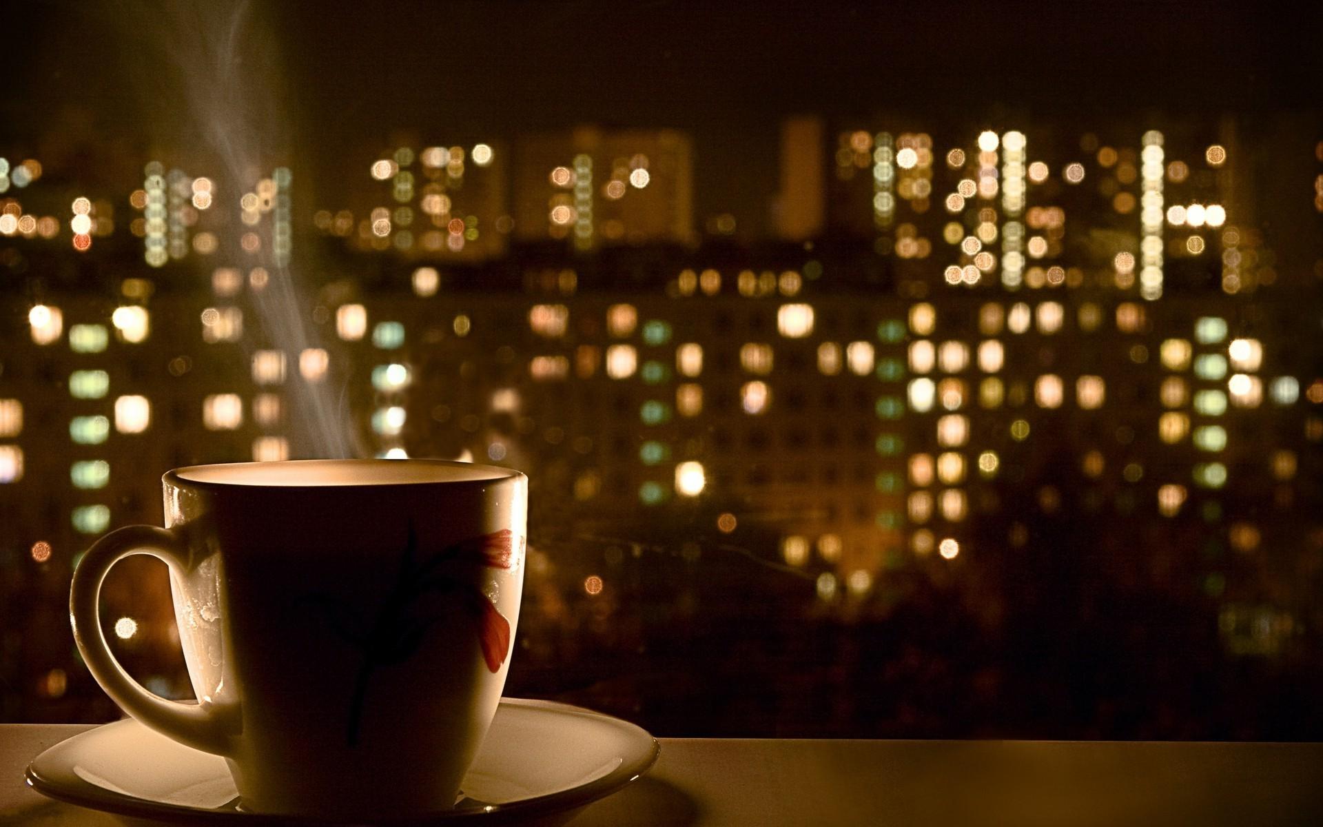 Night time coffee wallpaper 15619 1920x1200