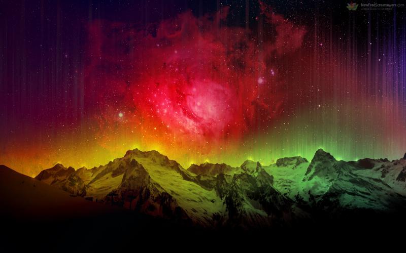 Animated Aurora Borealis Wallpaper - WallpaperSafari Rainbow Northern Lights