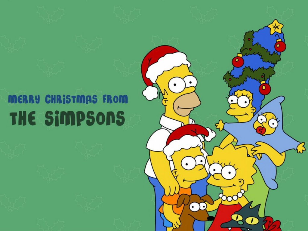 The Simpson Christmas Pictures and Wallpaper 1024x768