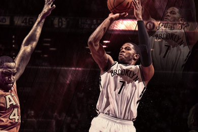 Wallpaper Deron Williams Joe Johnson Basketball 390x260