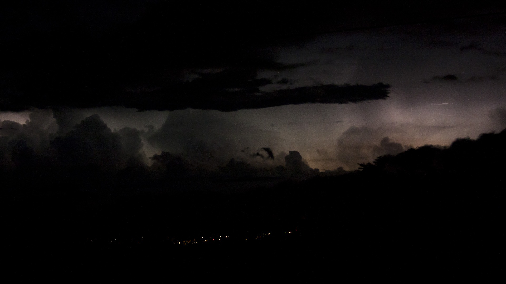 Distant Thunderstorm Wallpaper 1920x1080