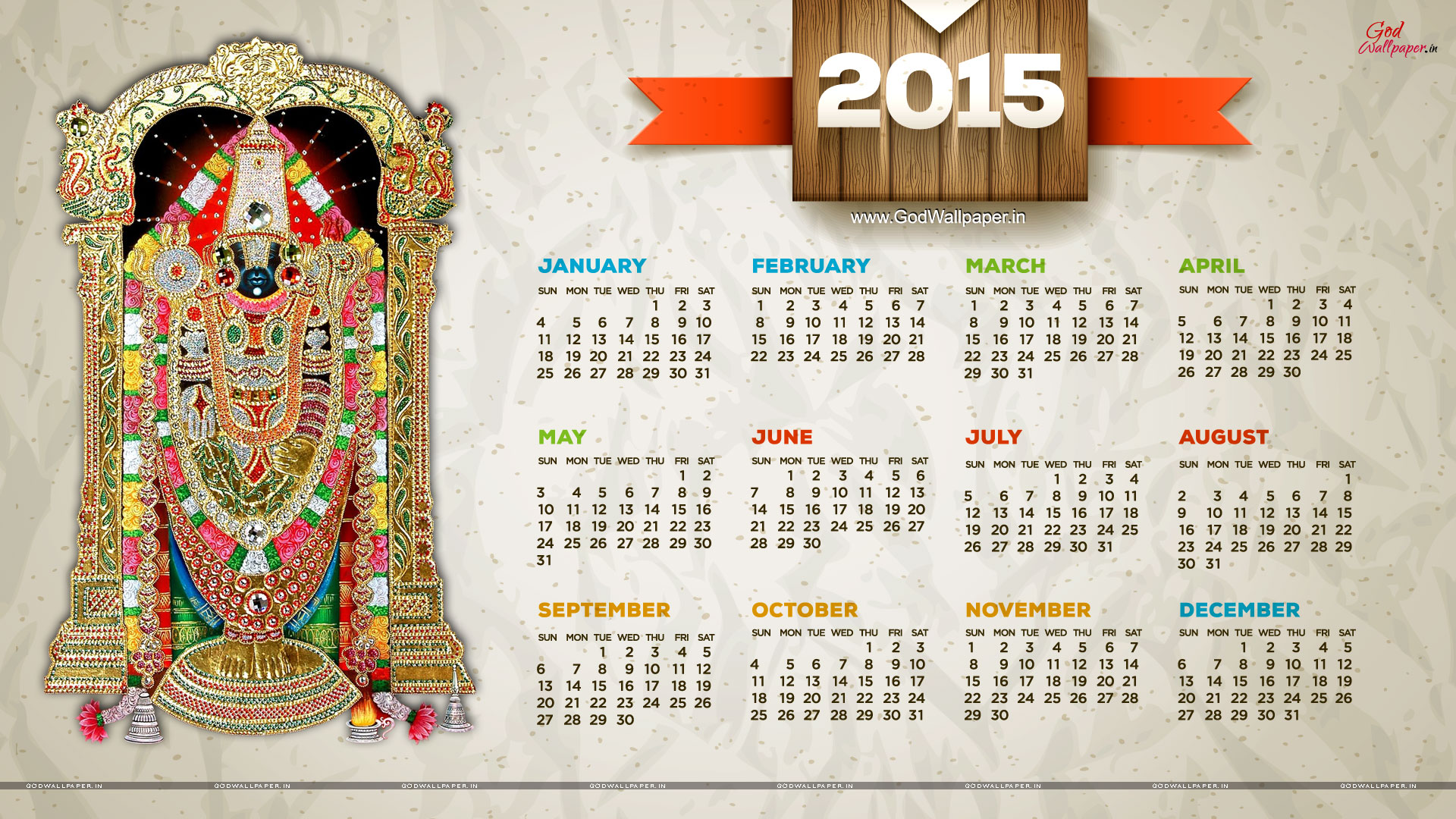 48] Desktop Wallpaper Calendar 2015 on WallpaperSafari 1920x1080