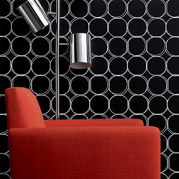 orbit large black self adhesive wallpaper CB2 598x598