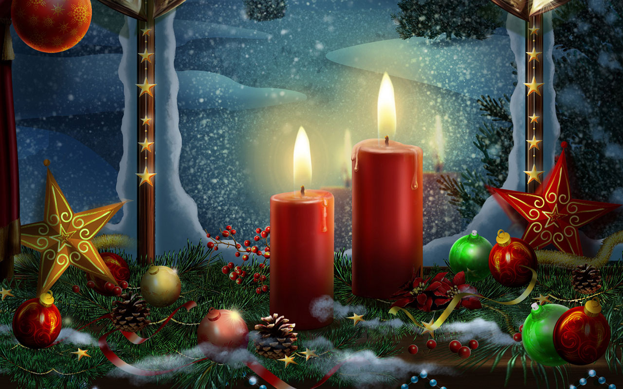 Christmas candles HD wallpaper 12 Holiday Wallpapers 1280x800