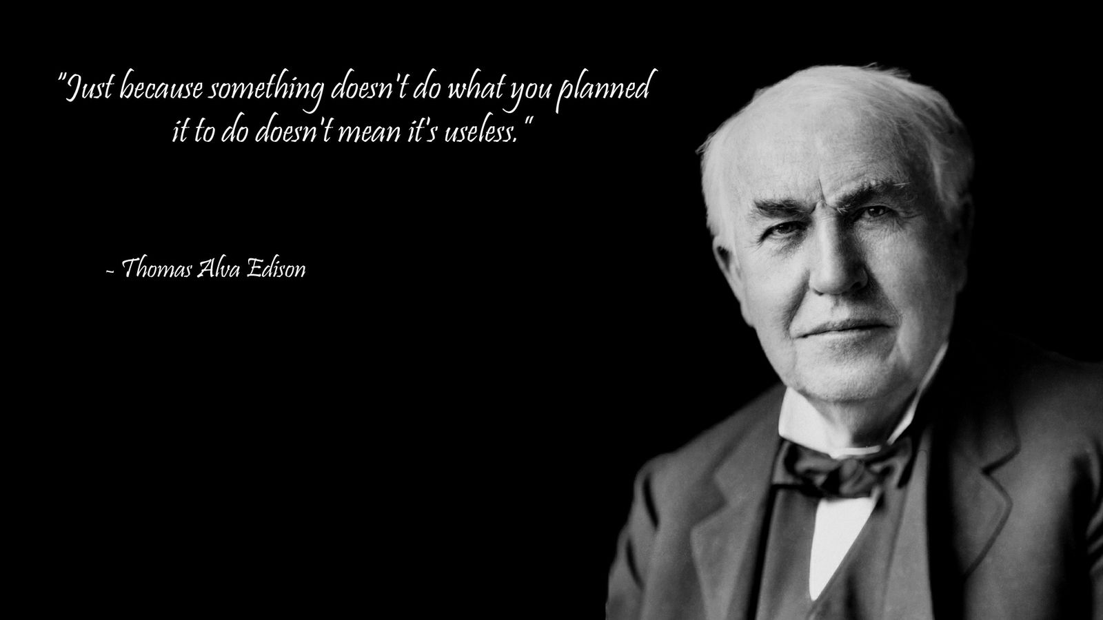 Thomas Edison quote Wallpaper Wisdom quotes Thomas edison 1600x900