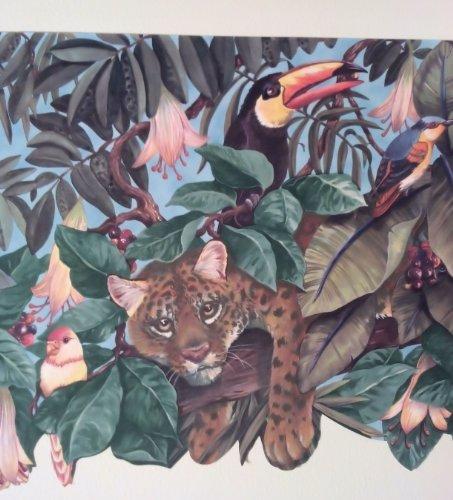 Kids Room Jungle Animals Wide Diecut Wallpaper Border 453x500