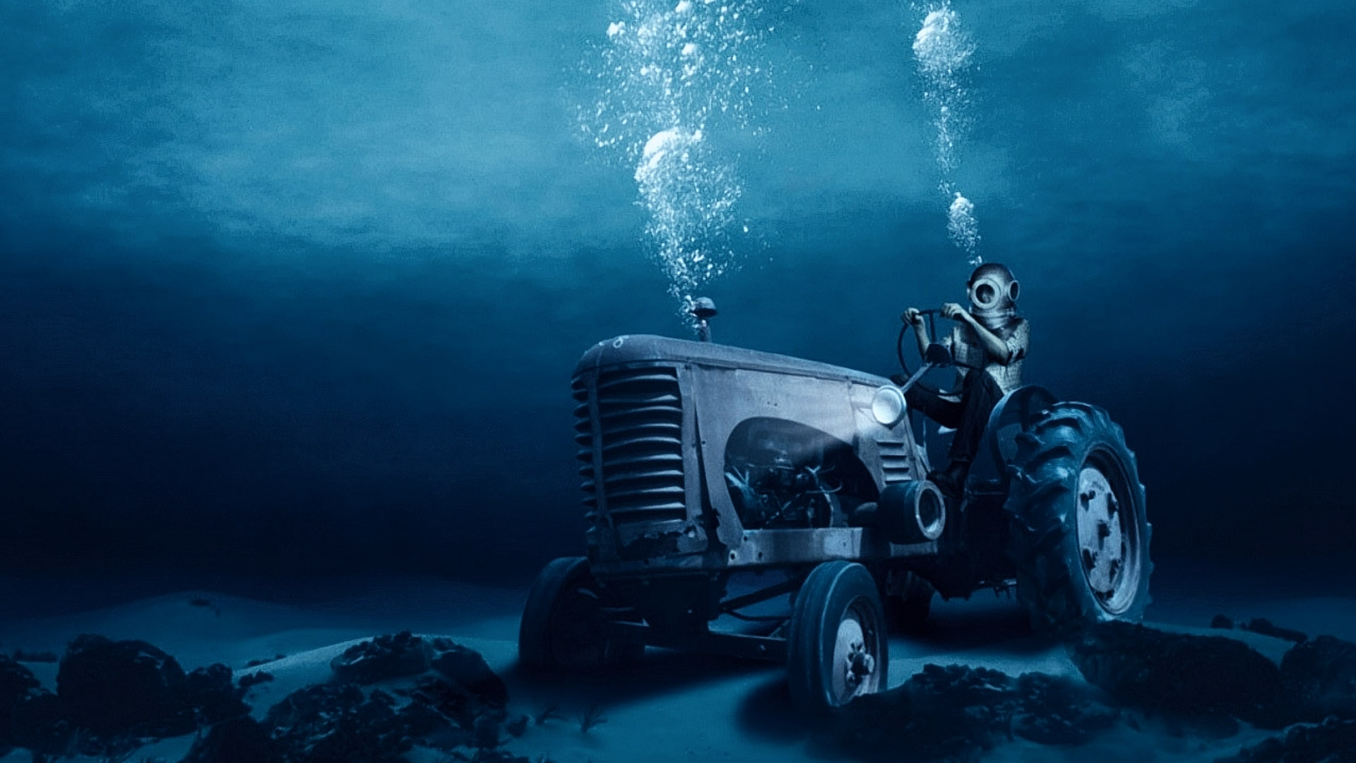 Hd wallpaper underwater - Awesome Tractor Undersea Wallpaper Hd 10002 Wallpaper Wallpaperlepi