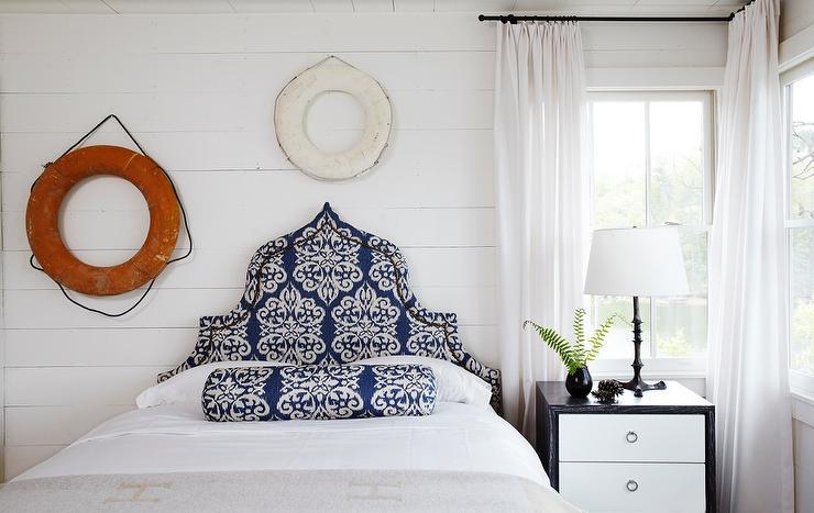 Shiplap Bedroom with Decorative Life Savers 740x467