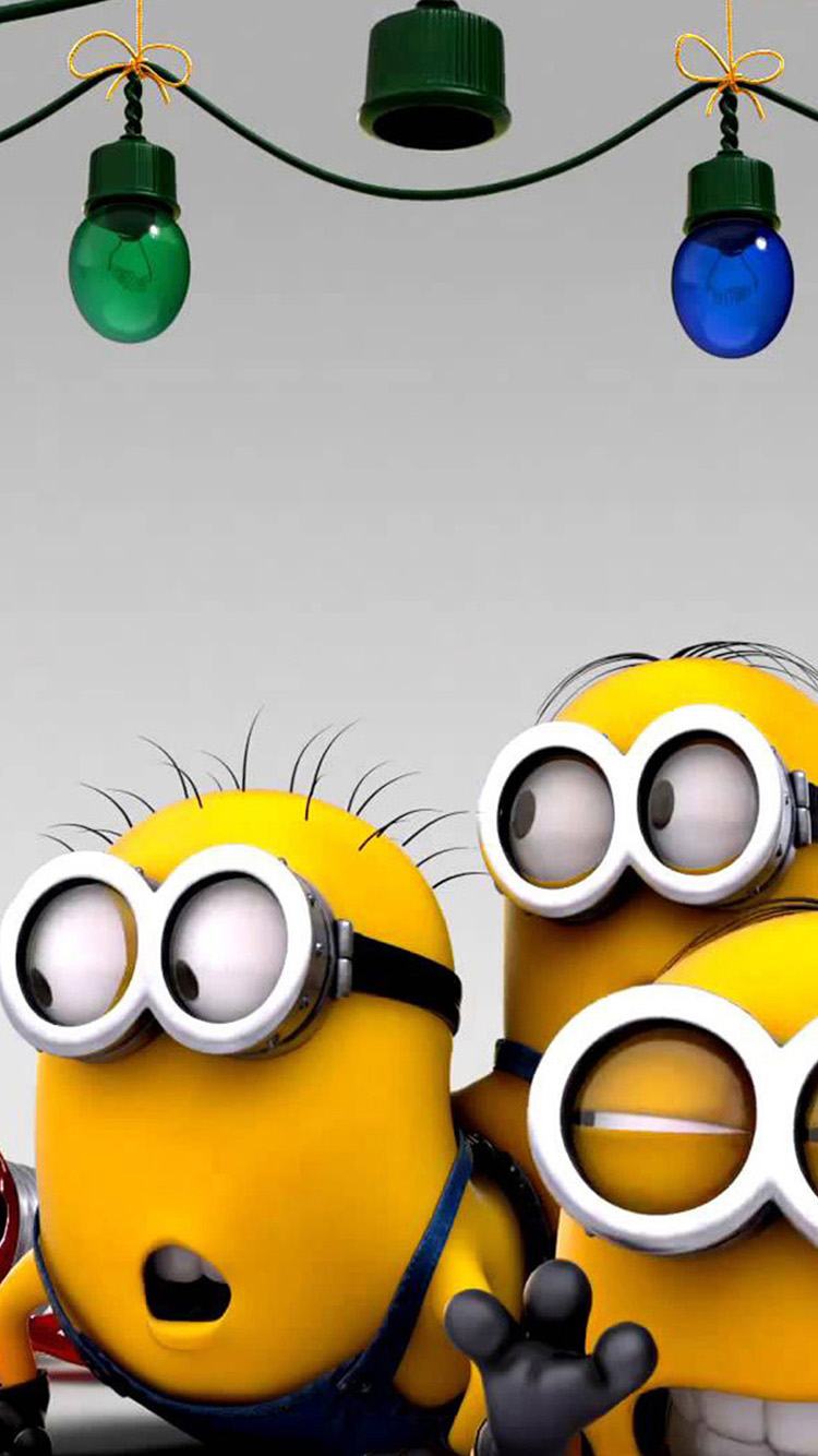 home cute cute little yellow people for christmas iphone 6 wallpapers 750x1334