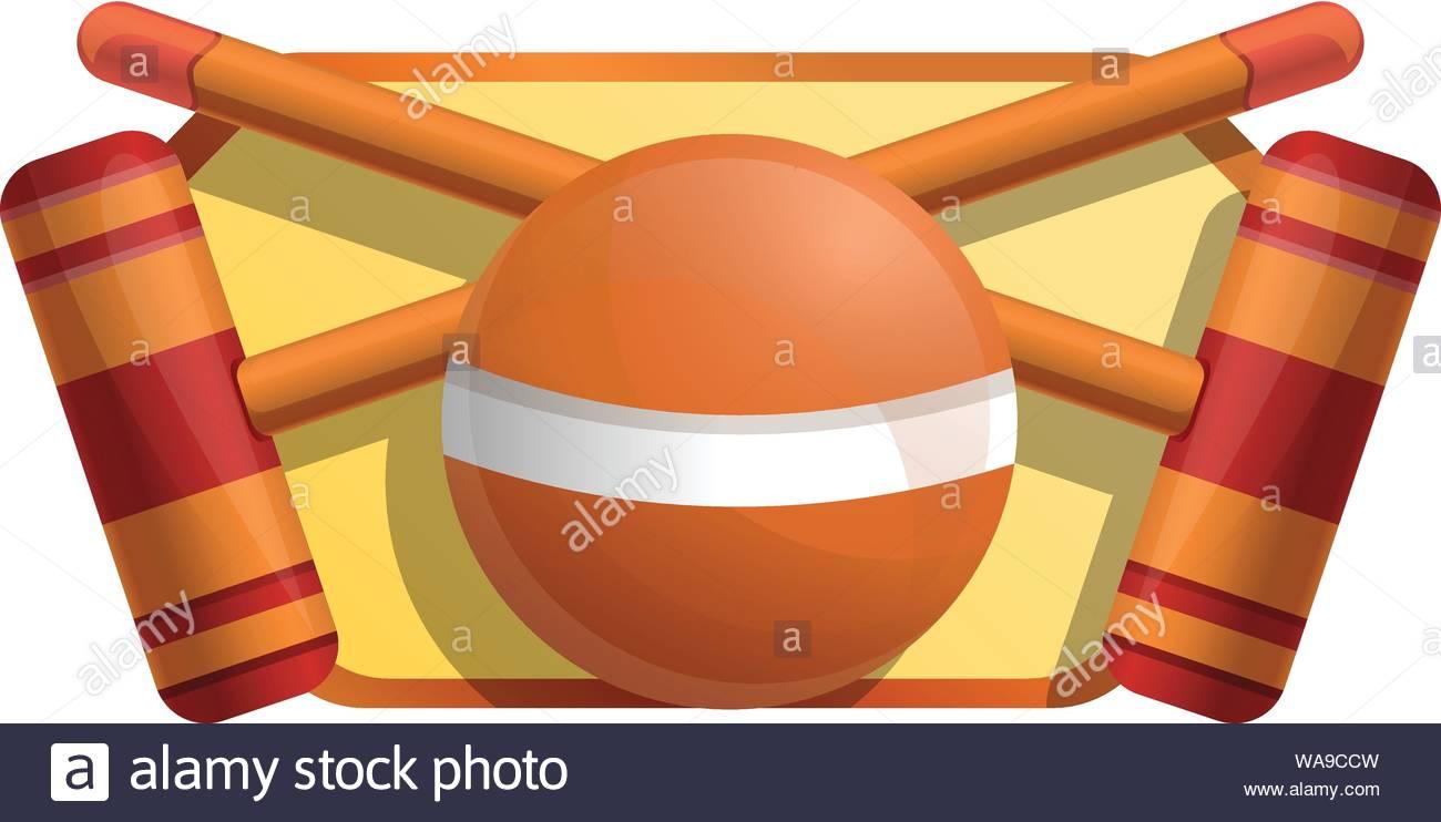 Croquet equipment icon Cartoon of croquet equipment vector icon 1300x742