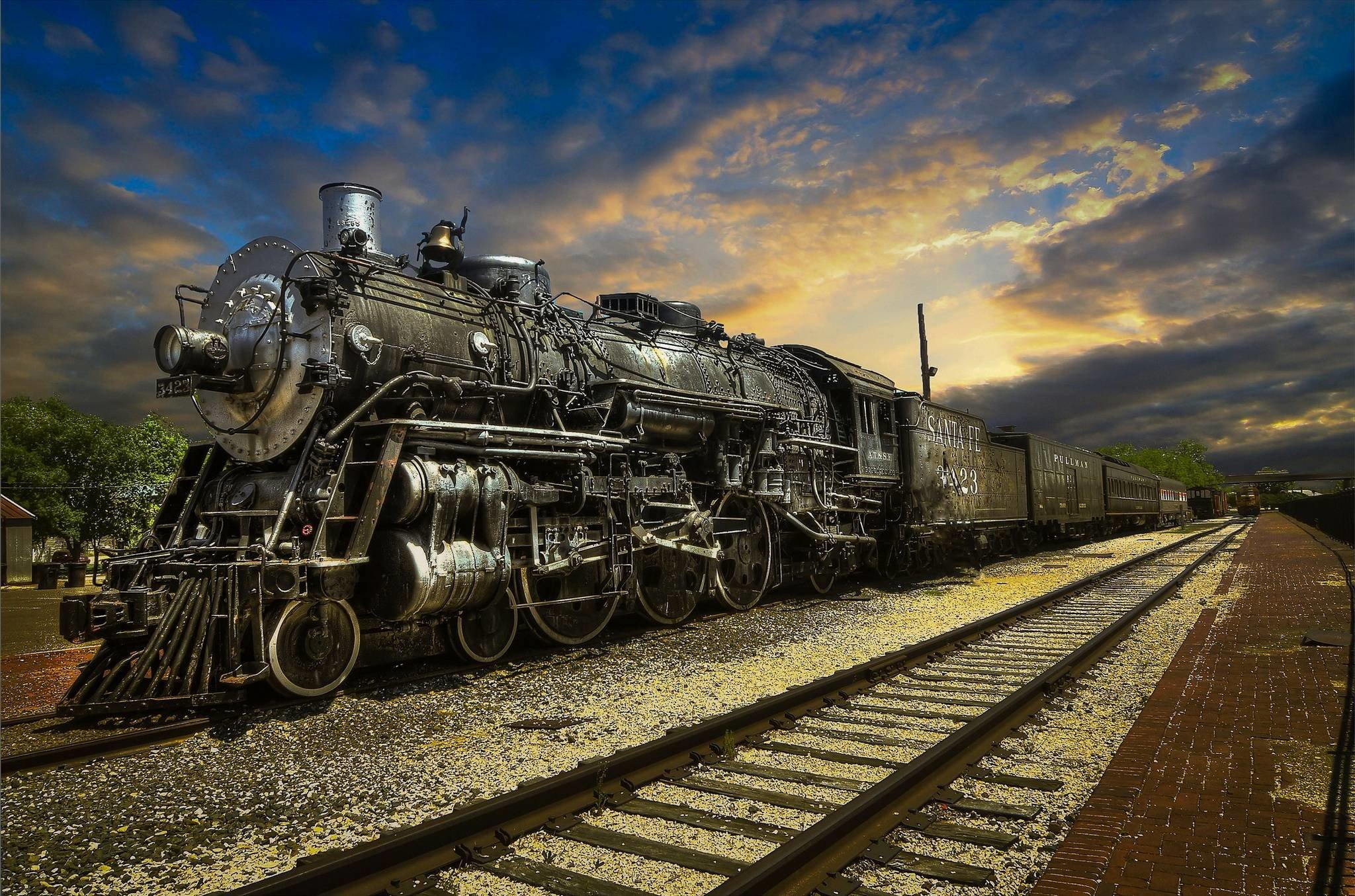 Steam Train Wallpaper 73 images 2048x1355