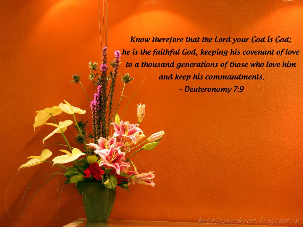 Christian Wallpapers Bible Verse Wallpaper   Deuteronomy 79 1024x768
