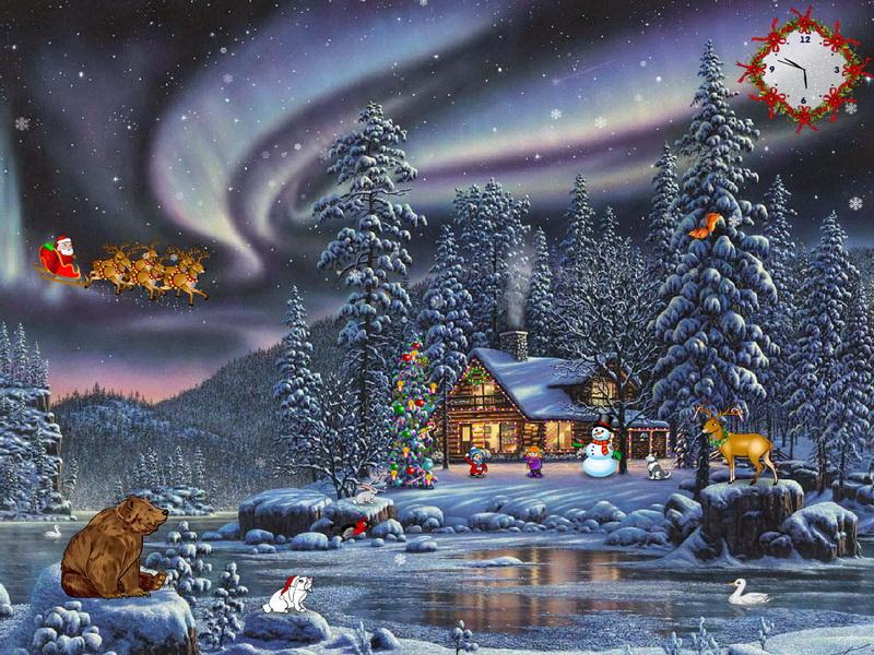 animated christmas wallpaper with music