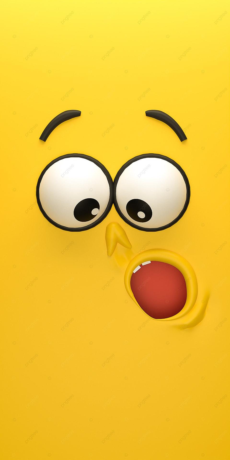 3d Yellow Cartoon Mobile Phone Wallpaper 3d Phone Wallpaper 960x1920
