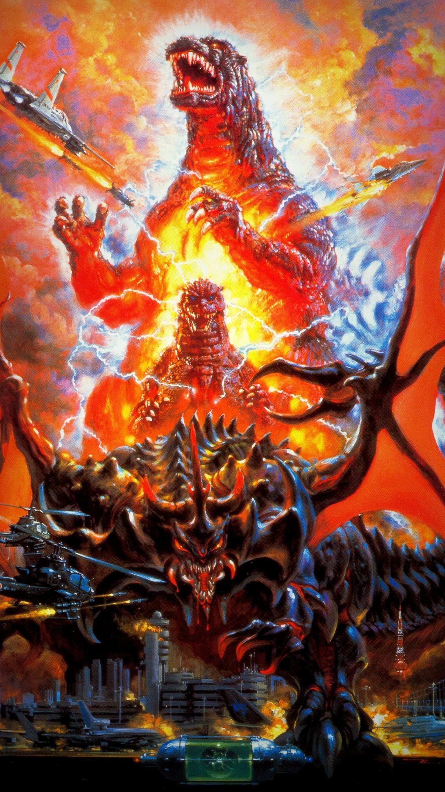 Godzilla vs Destoroyah 1995 Phone Wallpaper Godzilla 1536x2732