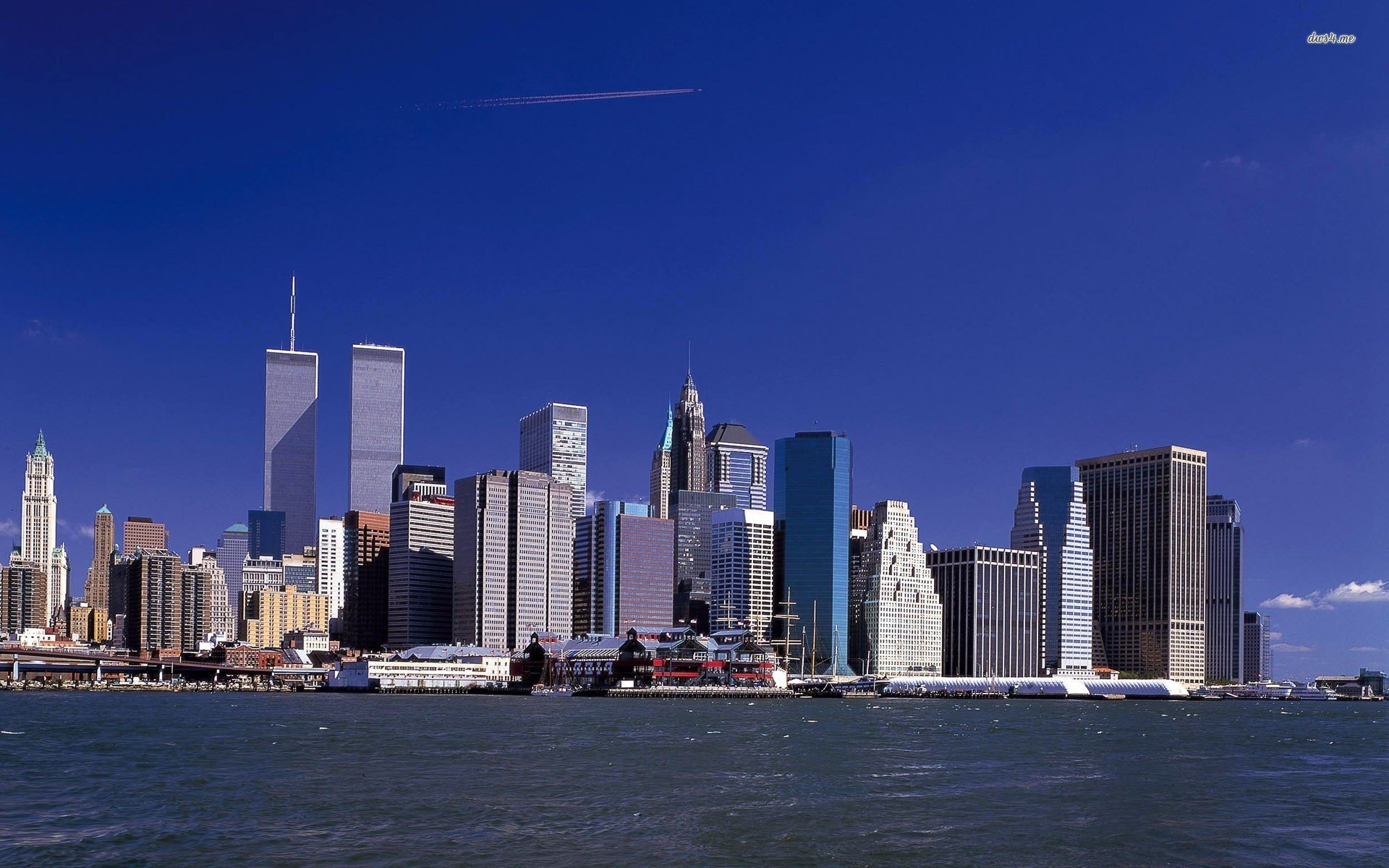 Manhattan skyline wallpaper wallpapersafari - New york skyline computer wallpaper ...