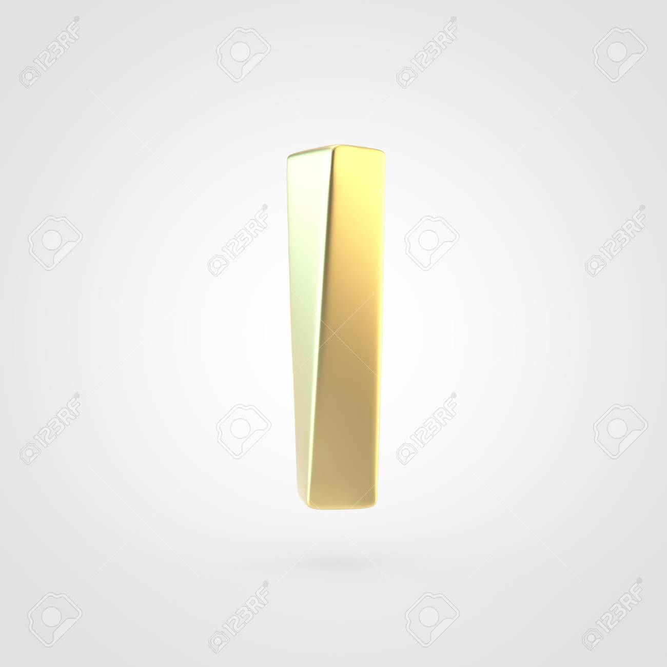 Golden Letter L Lowercase 3D Rendering Of Matted Golden Font 1300x1300