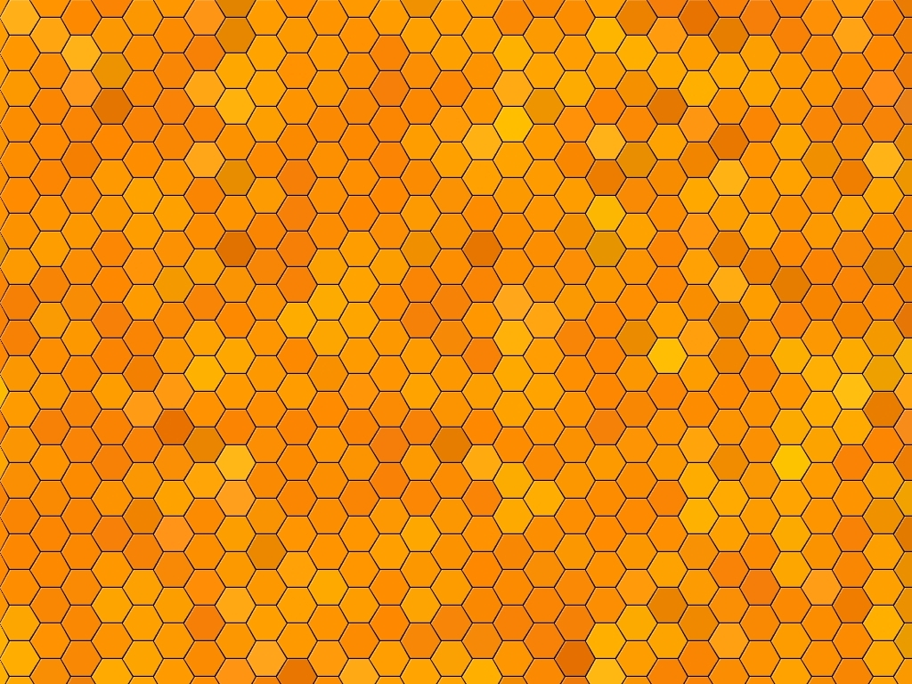 Wallpaper Abstract Yellow Orange Hexagon Pattern 1024x768