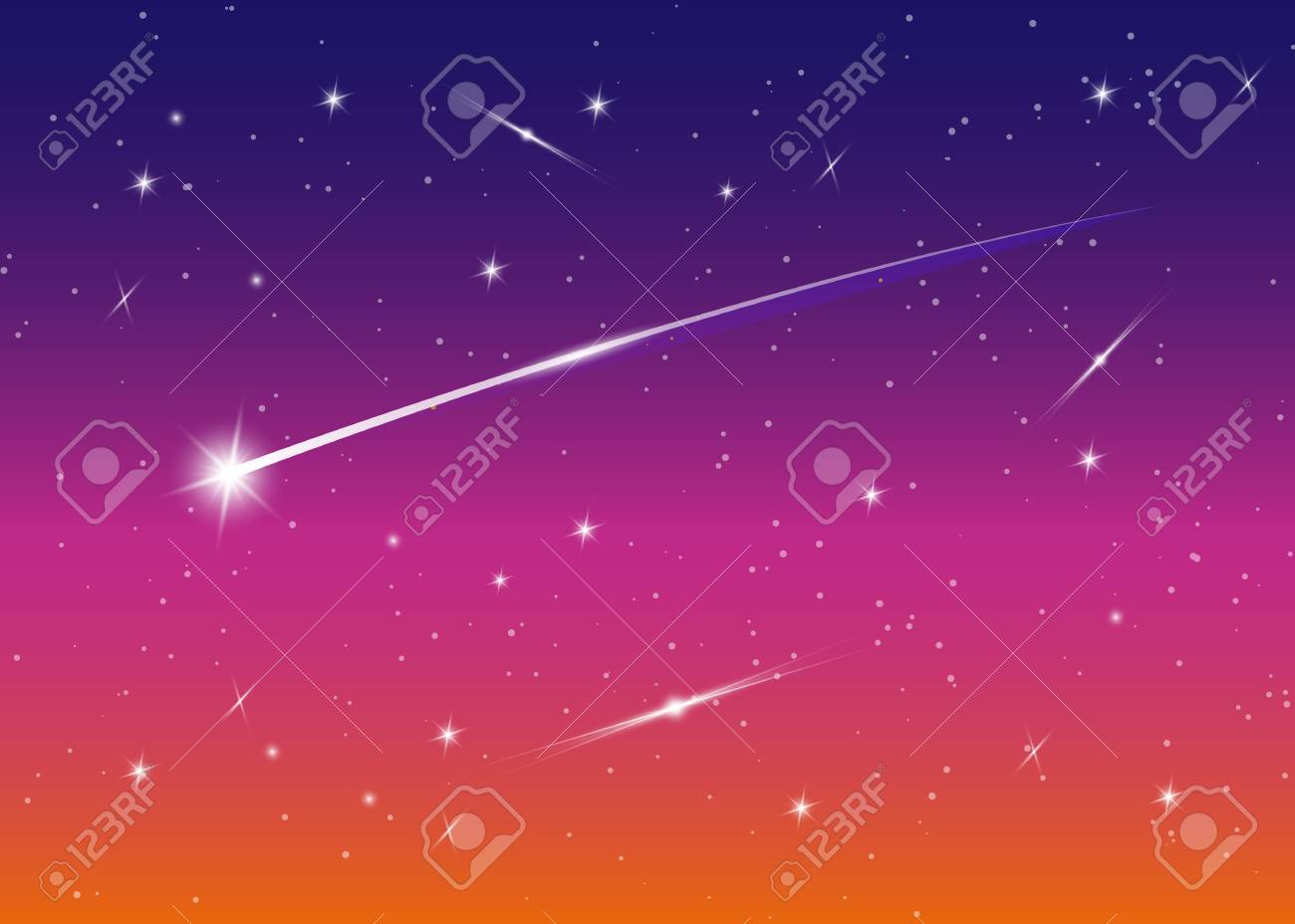 Shooting Star Background Against Dark Blue Starry Night Sky 1300x928