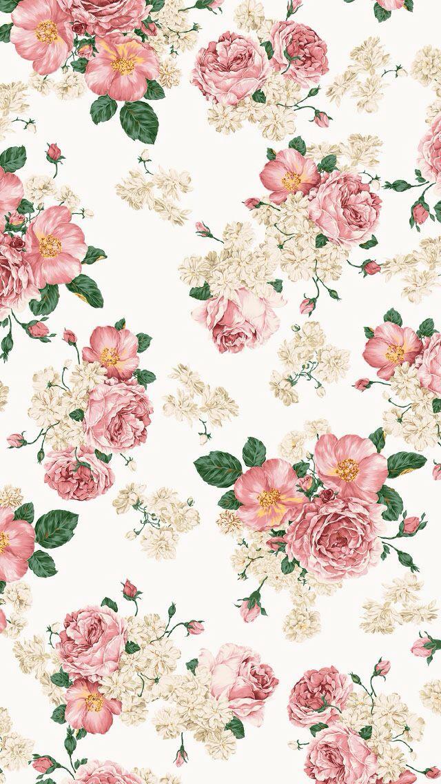 [50+] Vintage Flower Wallpaper for iPhone on WallpaperSafari