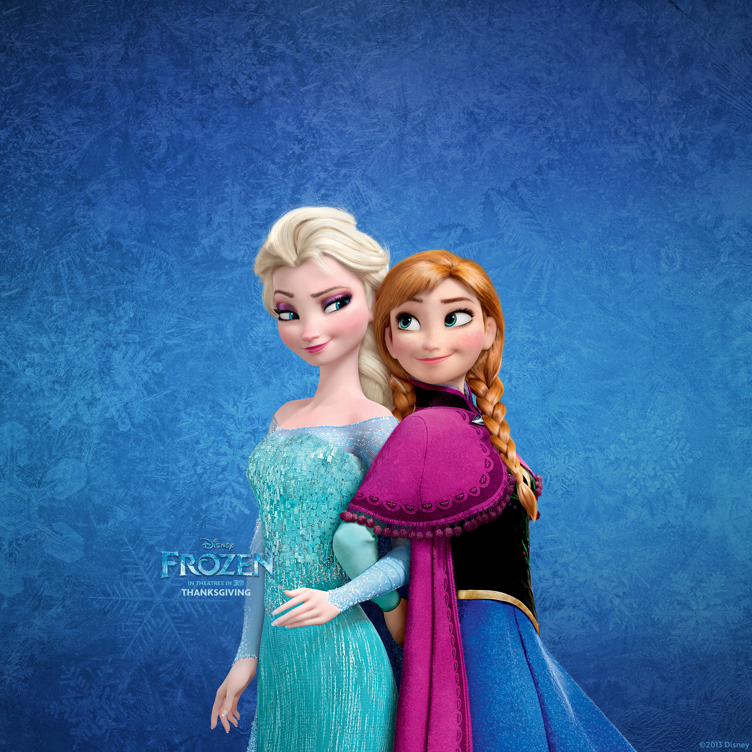 Frozen Elsa and Anna Wallpaper for Ipad in High Resolution at Cartoons 2448x2448